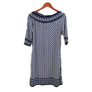 Bandeau Neck Print Dress